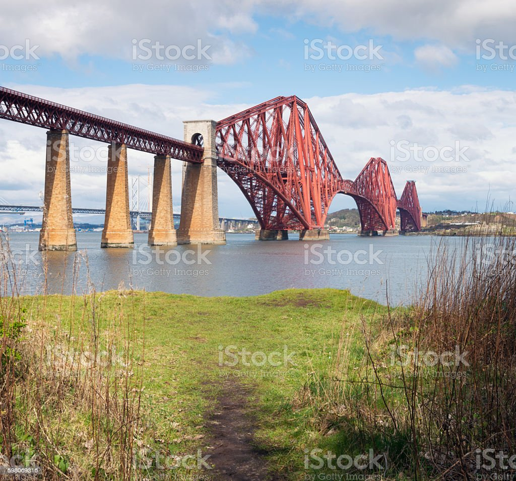 Forth Bridge Viewpoint stock photo
