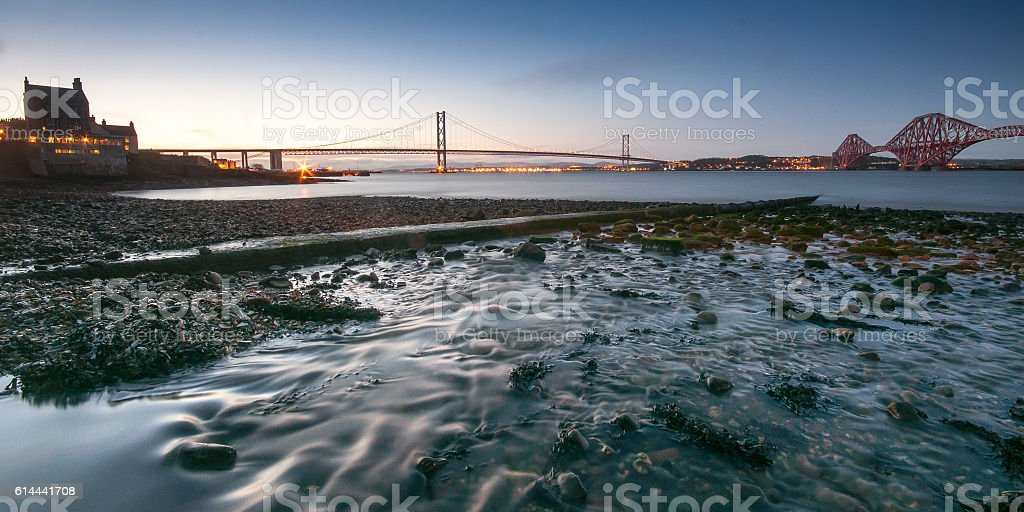 Forth Bridges stock photo