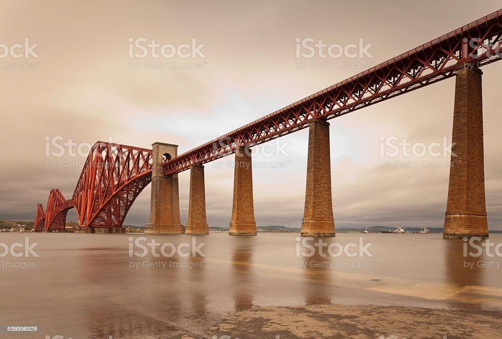 Forth Rail Bridge, Edinburgh, Scotland stock photo