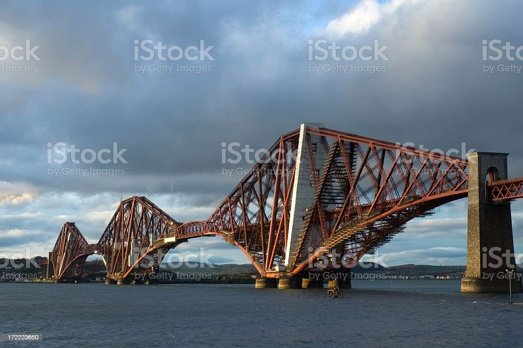 Forth Rail Bridge in Evening Light stock photo