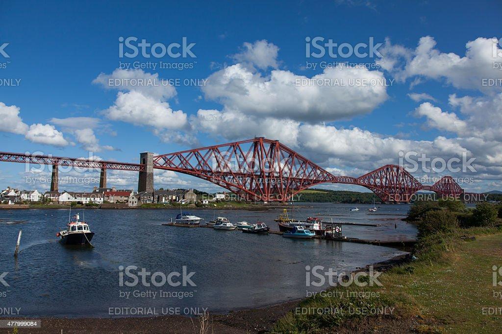 Forth Rail Bridge, in Scotland stock photo