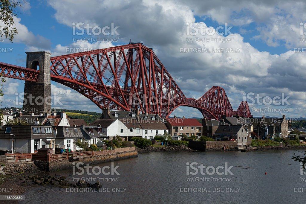 Forth Rail Bridge, in Scotland. stock photo
