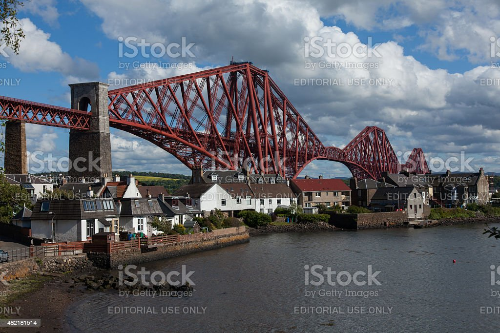 Forth Rail Bridge, in Scotland stock photo