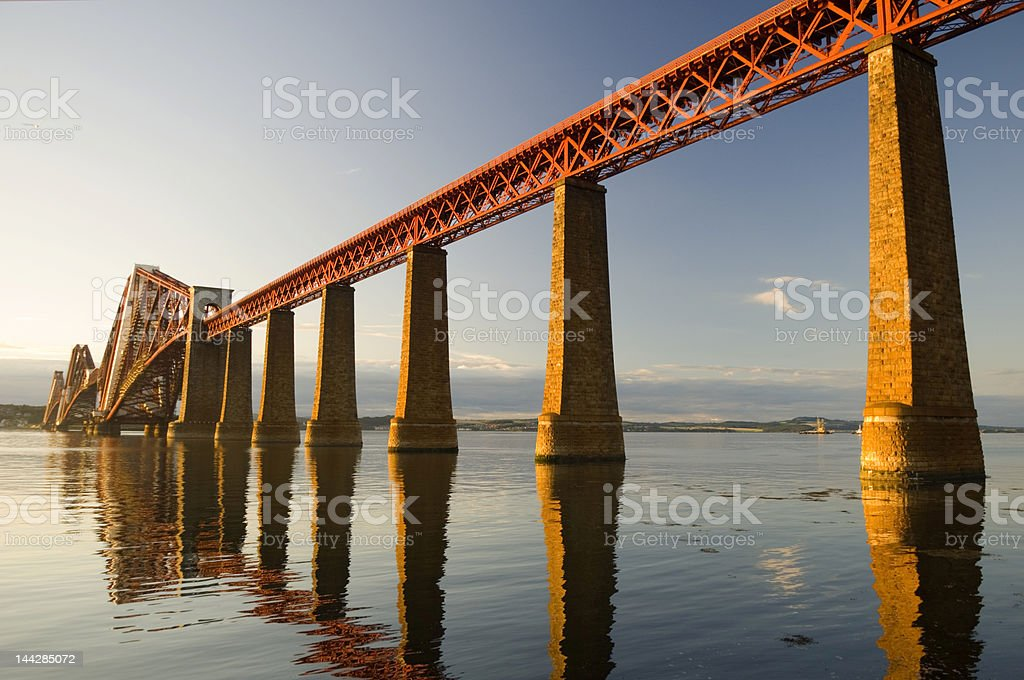 Forth rail bridge stock photo