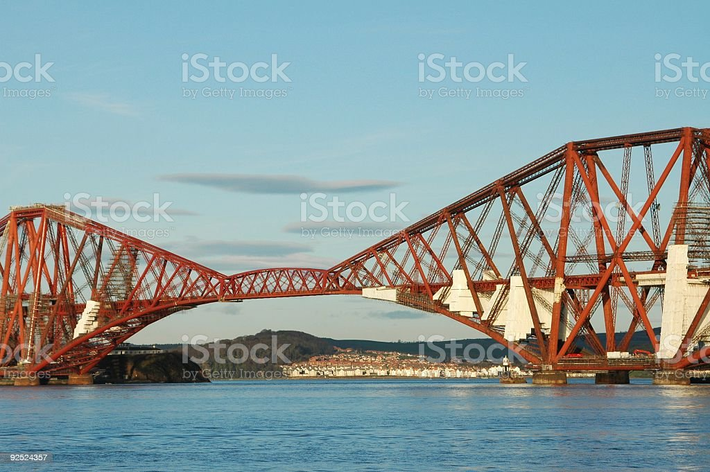 Forth Rail Bridge royalty-free stock photo