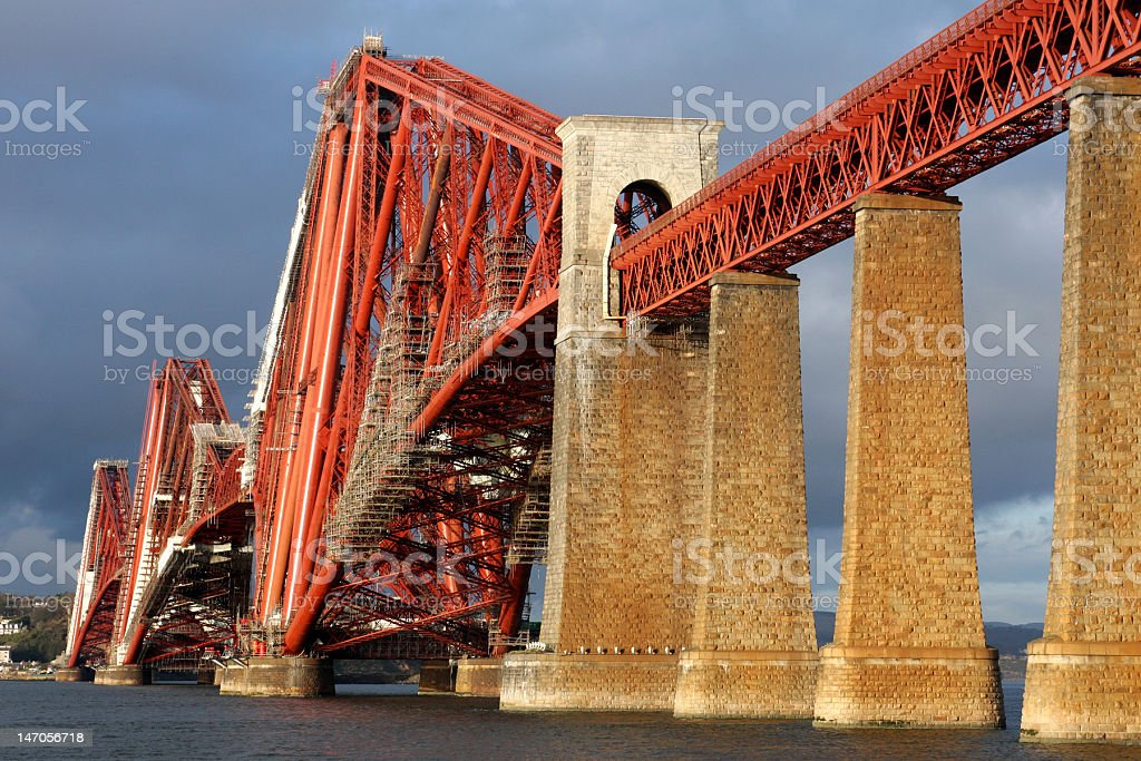 Forth Rail Bridge, Scotland stock photo
