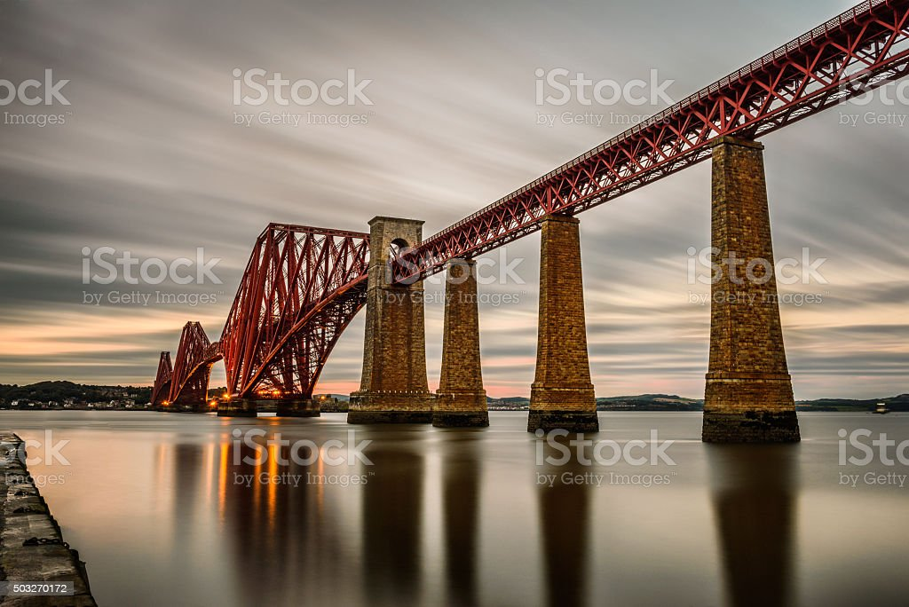 Forth Railway Bridge  in Edinburgh, United Kingdom stock photo