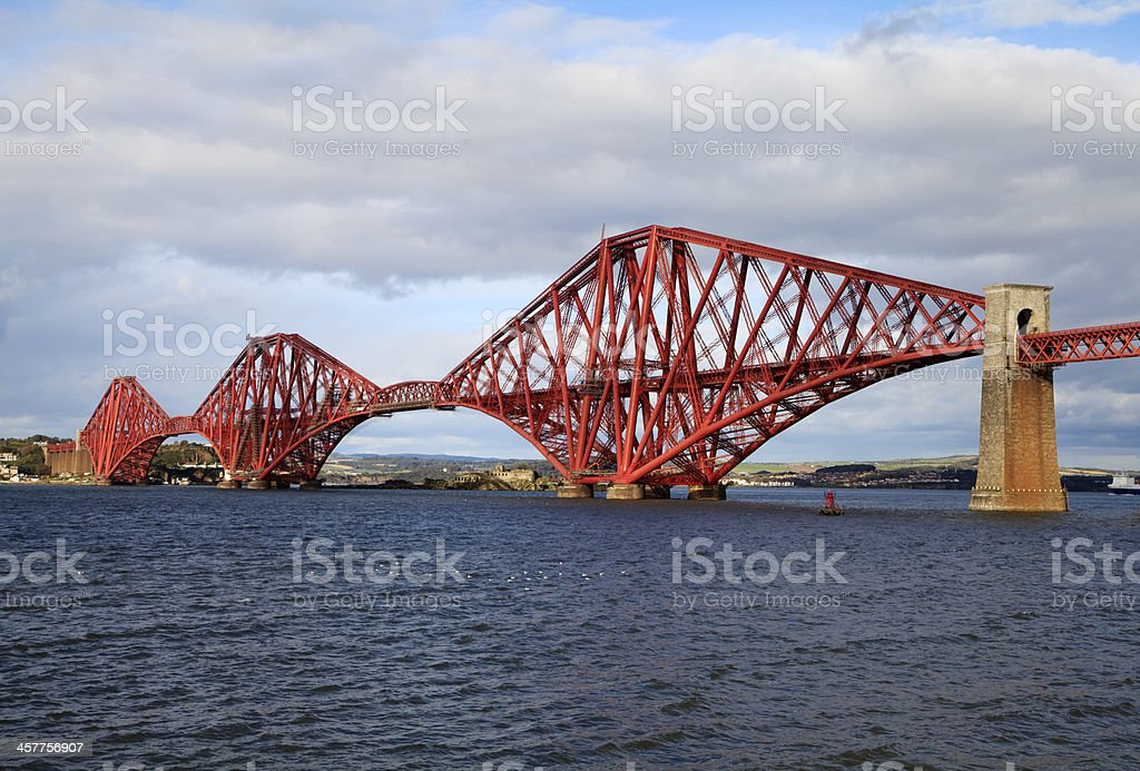 Forth Railway Bridge, Scotland stock photo