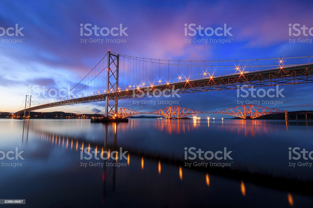 Forth Road and Rail Bridges stock photo