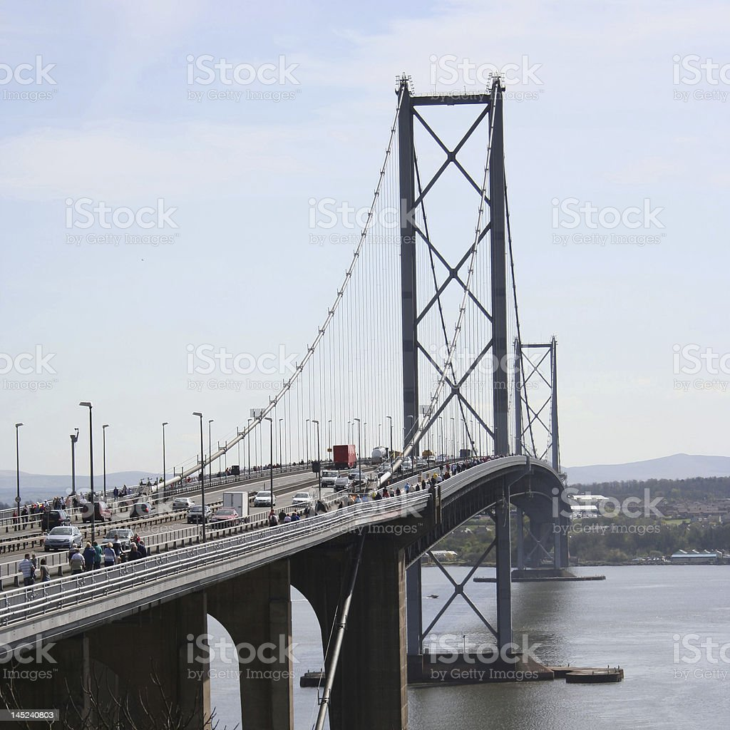Forth Road Bridge royalty-free stock photo