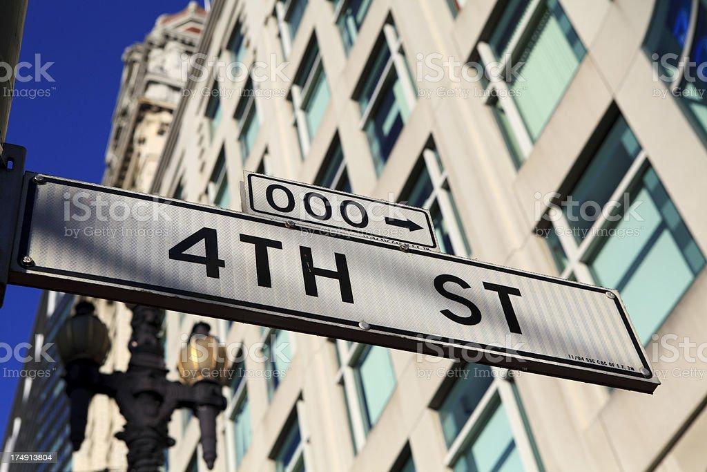 Forth Street in San Francisco, California royalty-free stock photo