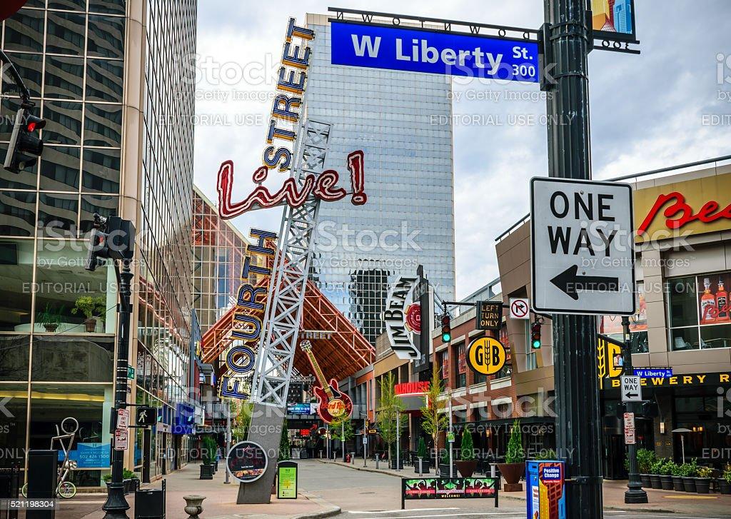 Forth Street Live Louisville, Kentucky stock photo