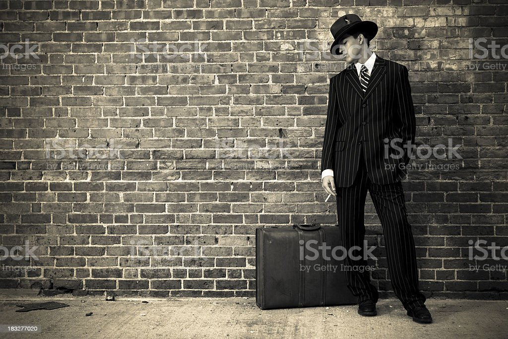 Forties man stock photo