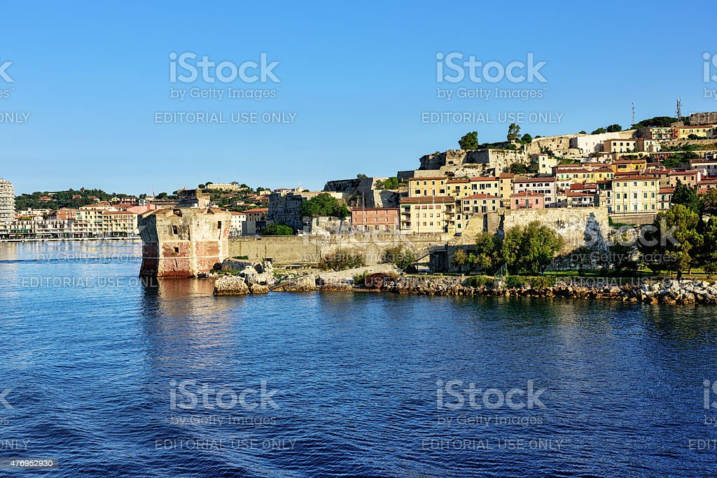 Fortification and old town  at Portoferraio, Isalnd of Elba stock photo