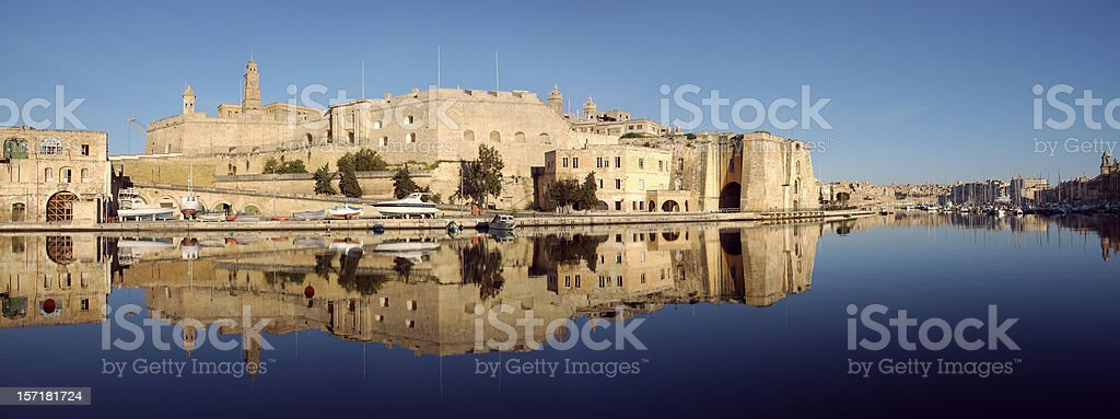 Fortification of Senglea stock photo