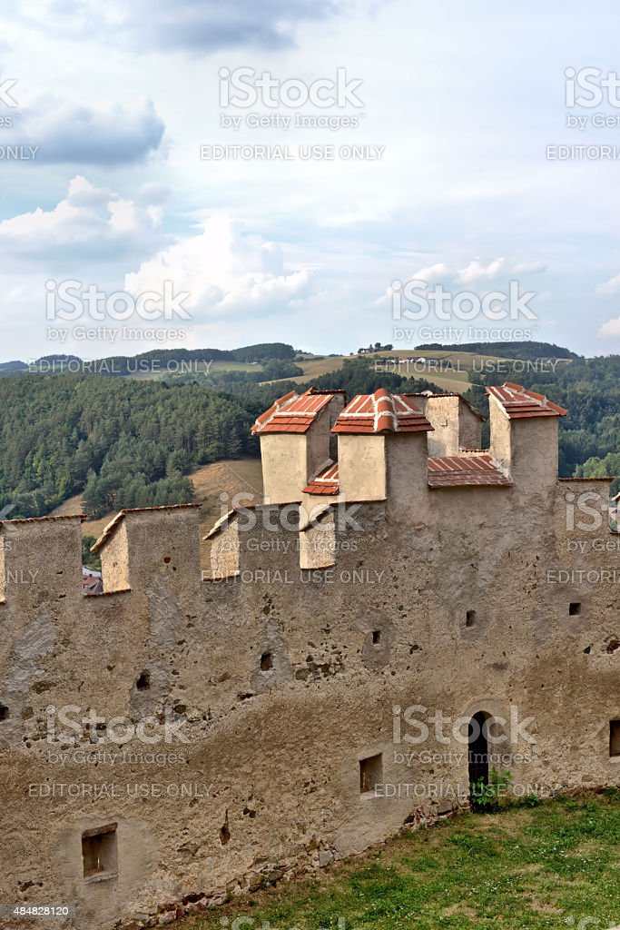 Fortification of the ruins of the Castle 'Kirchschlag' stock photo
