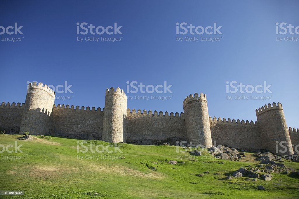 fortification town stock photo
