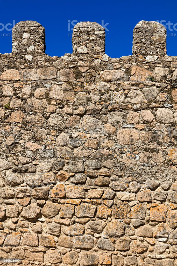 Fortification wall detail stock photo