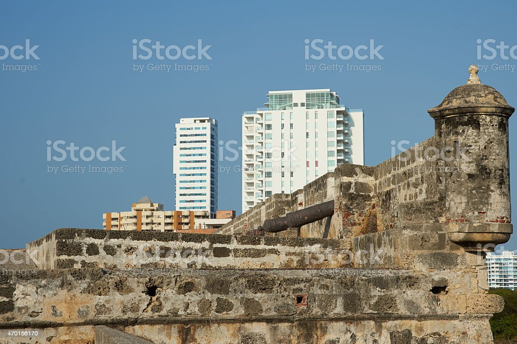 Fortifications of Cartagena stock photo