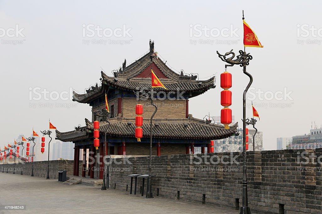 Fortifications of Xian (Sian, Xi'an) an ancient capital China royalty-free stock photo
