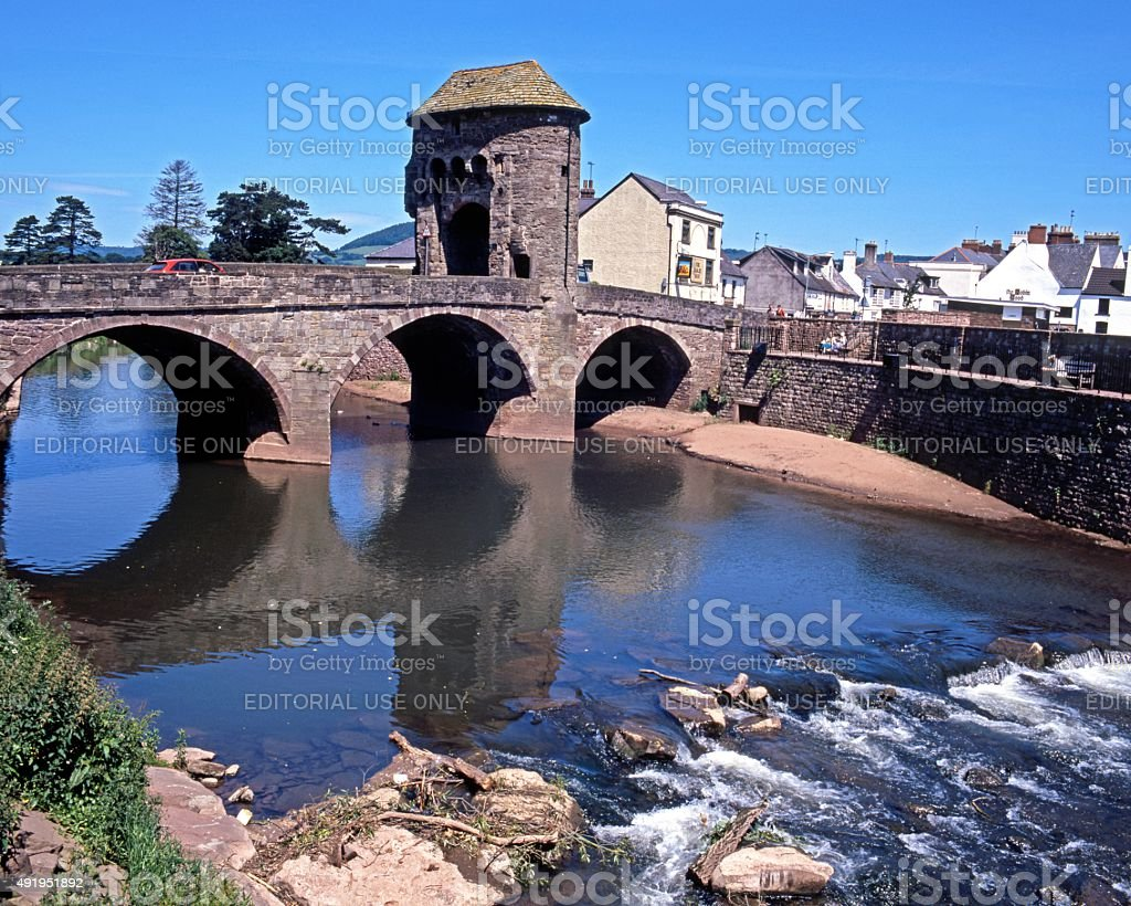 Fortified bridge, Monmouth. stock photo