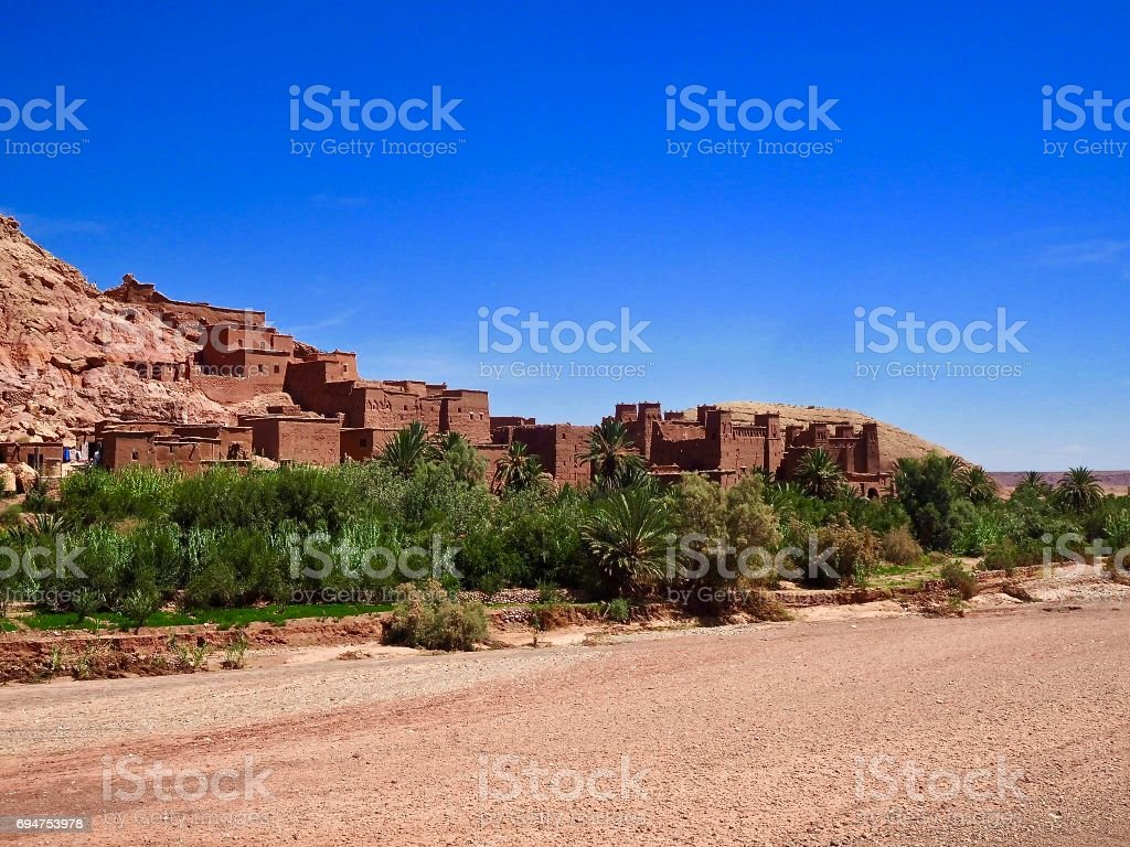 Fortified city, Ait Benhaddou Morocco stock photo