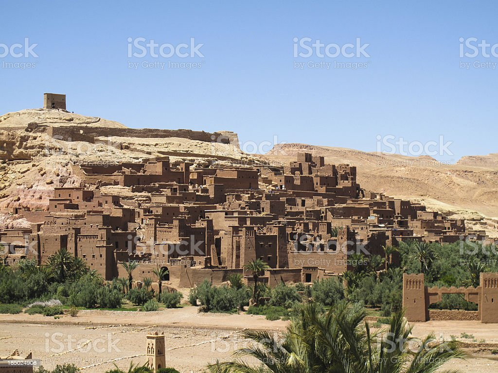 fortified city  of Aït Benhaddou royalty-free stock photo