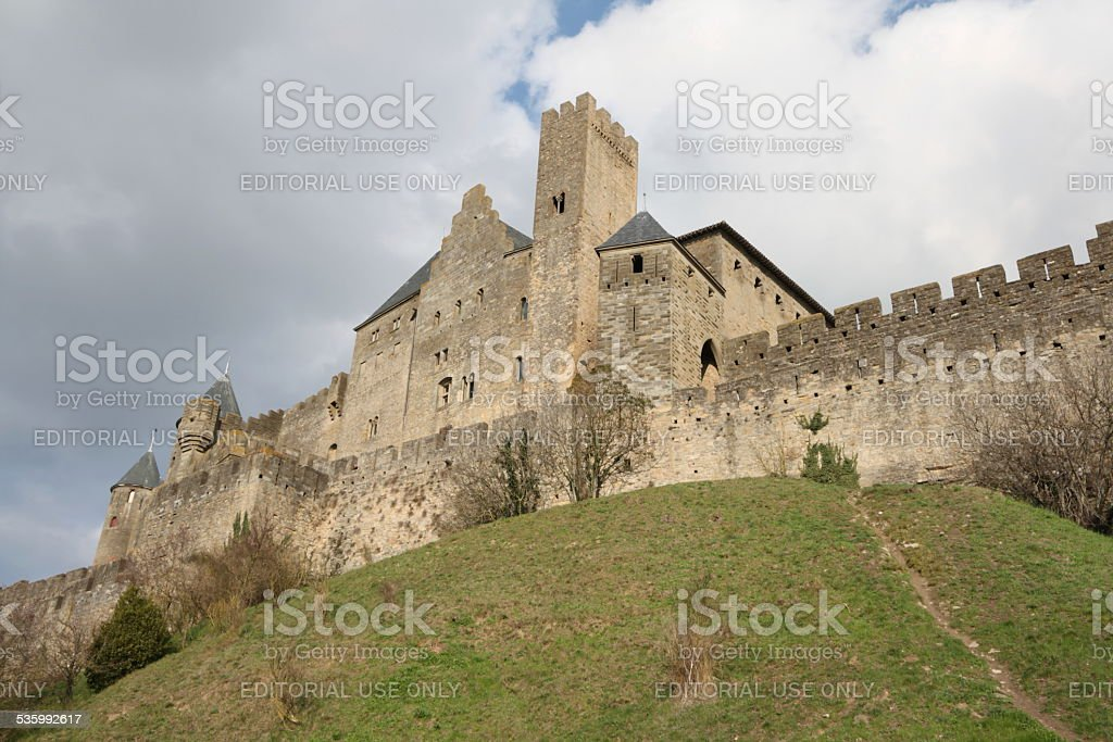 Fortified city of Carcassonne stock photo