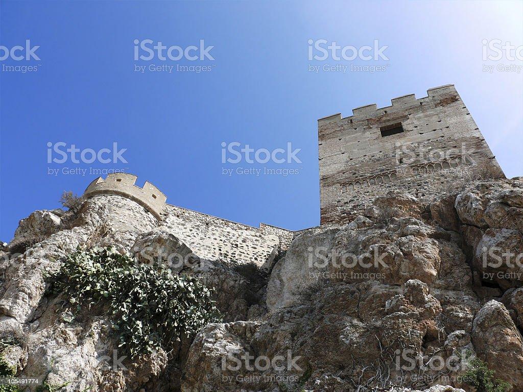 Hochprozentiger Muslimische Burg in Andalusien Lizenzfreies stock-foto