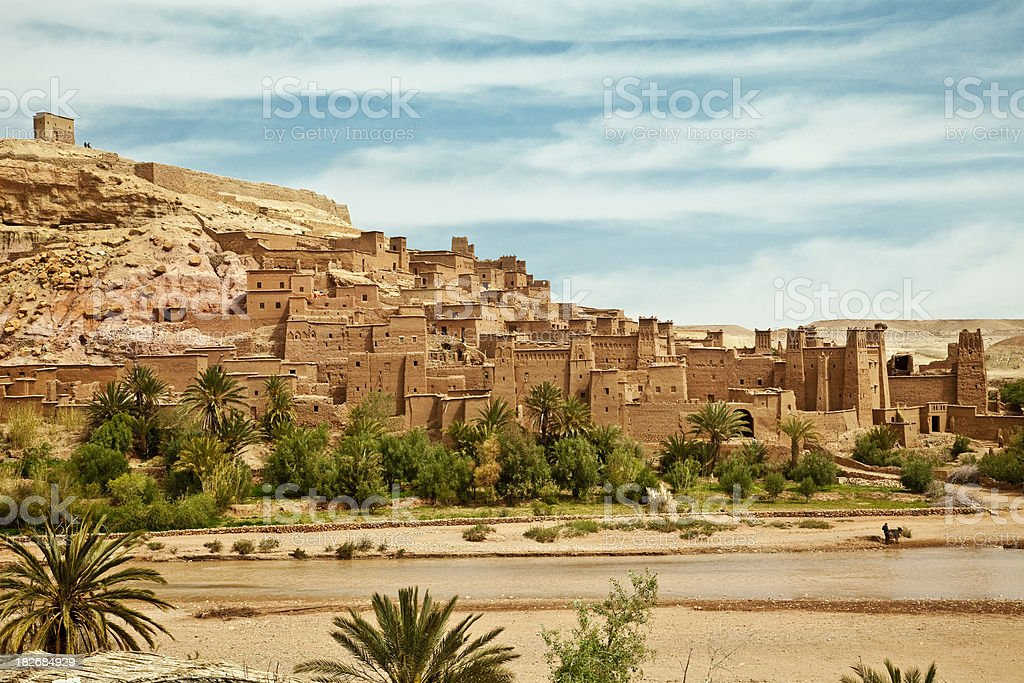 Fortified town stock photo