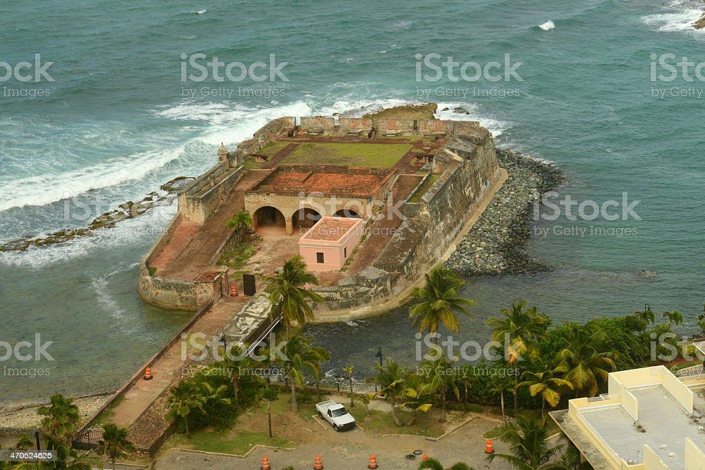 Fortin de San Geronimo de Boqueron, San Juan stock photo