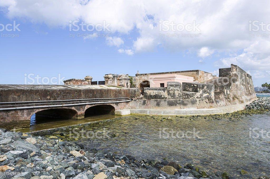 Fortín de San Gerónimo del Boquerón in Puerto Rico stock photo