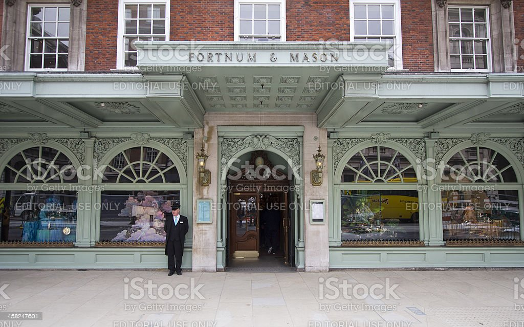 Fortnum and Mason, London royalty-free stock photo