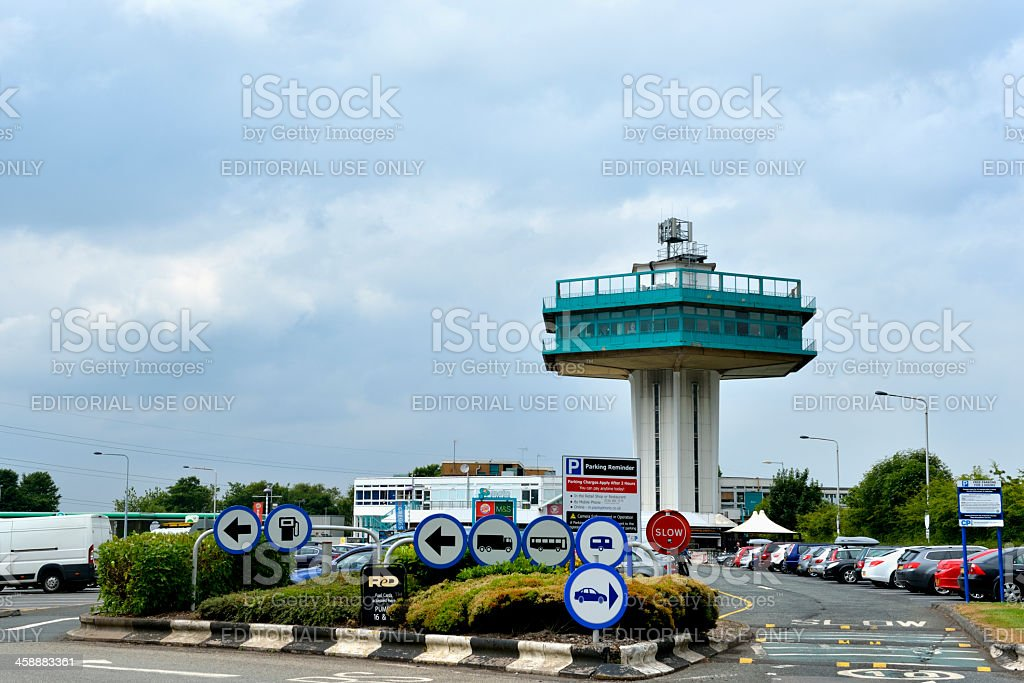 Forton Services, a M6 motorway service station in the UK stock photo