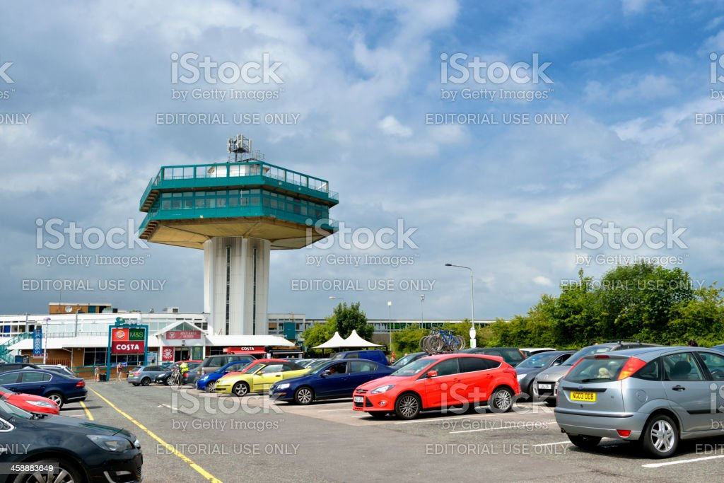 Forton Services, a M6 motorway service station in the UK royalty-free stock photo
