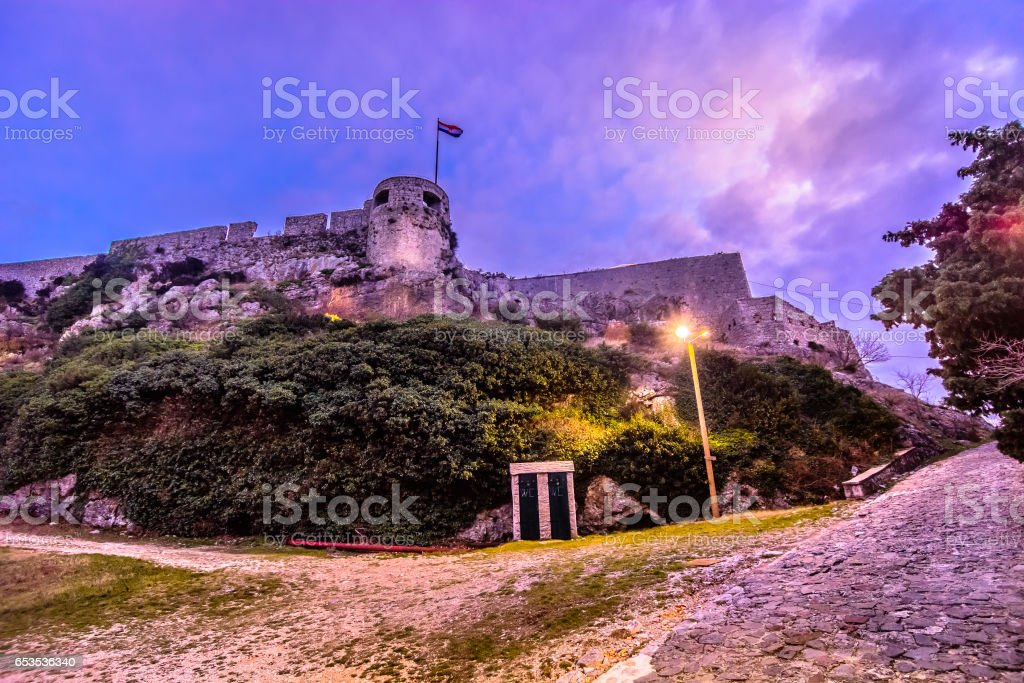 Fortress above town Split, Croatia. stock photo