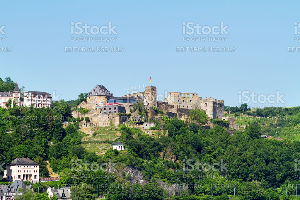 Fortress and castle Rheinfels stock photo