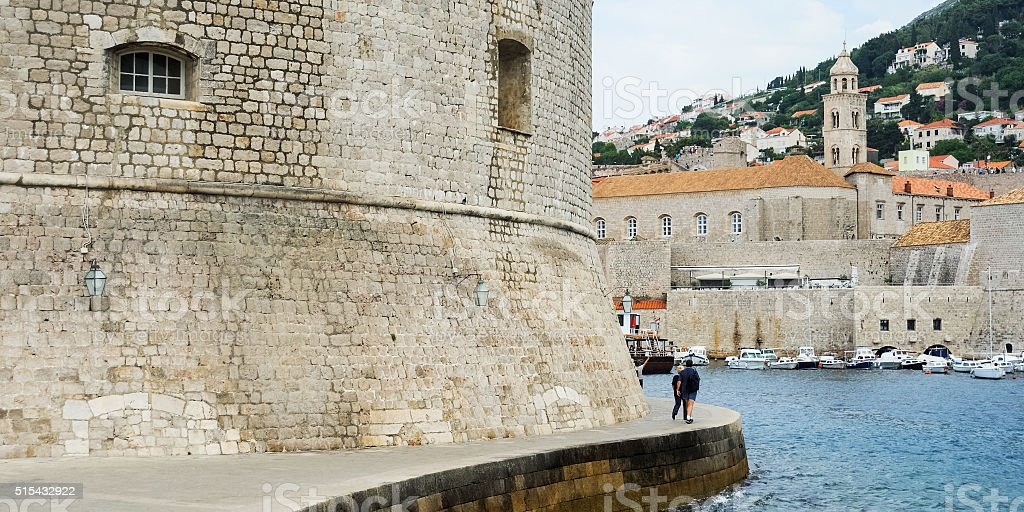 Fortress and Harbour of Dubrovnik stock photo