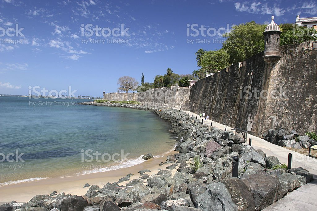 Fortress by the sea stock photo