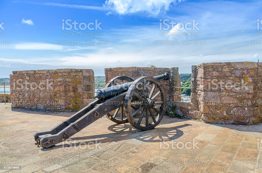 Fortress Cannon stock photo