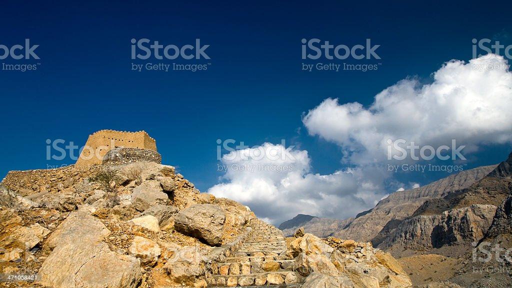 Fortress Dhaya Panoramic UAE stock photo