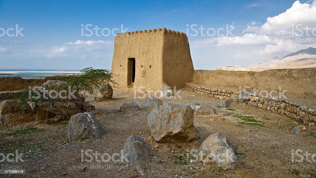 Fortress Dhaya United Arab Emirates Panoramic stock photo