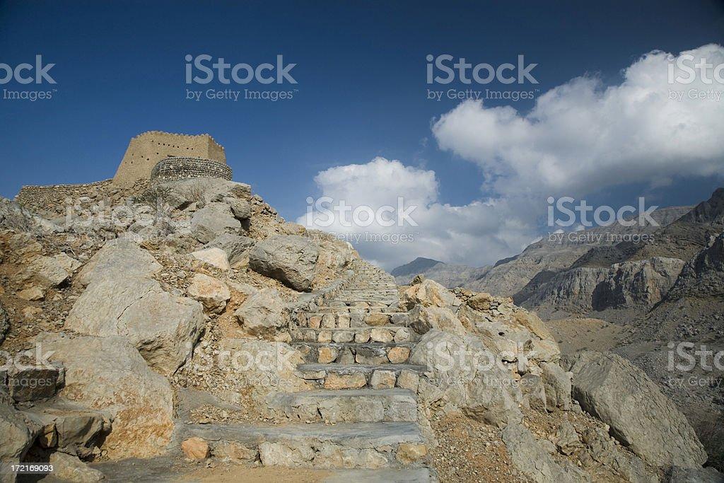 Fortress Dhaya United Arab Emirates stock photo
