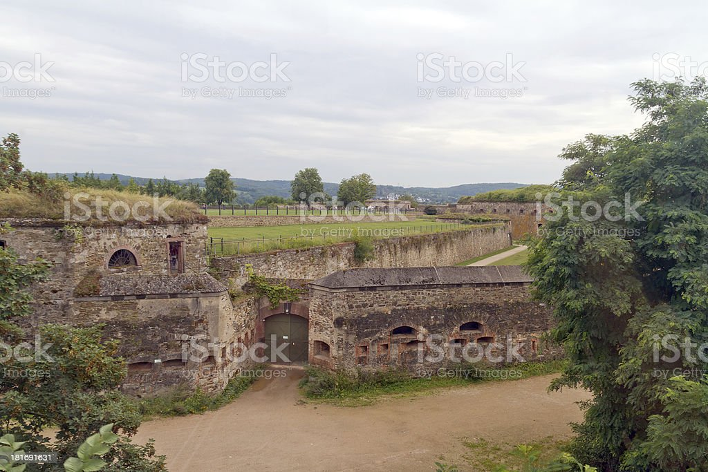 Fortress Ehrenbreitstein in Koblenz, Germany stock photo