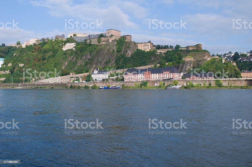 Fortress Ehrenbreitstein near Koblenz/Germany royalty-free stock photo