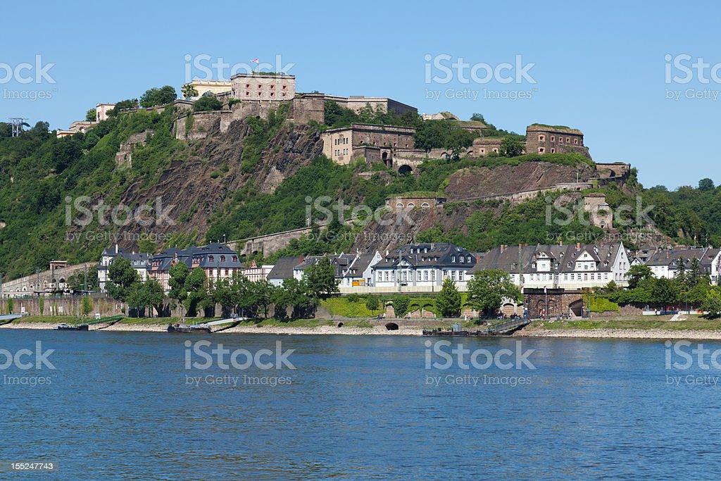 Fortress Ehrenbreitstein stock photo