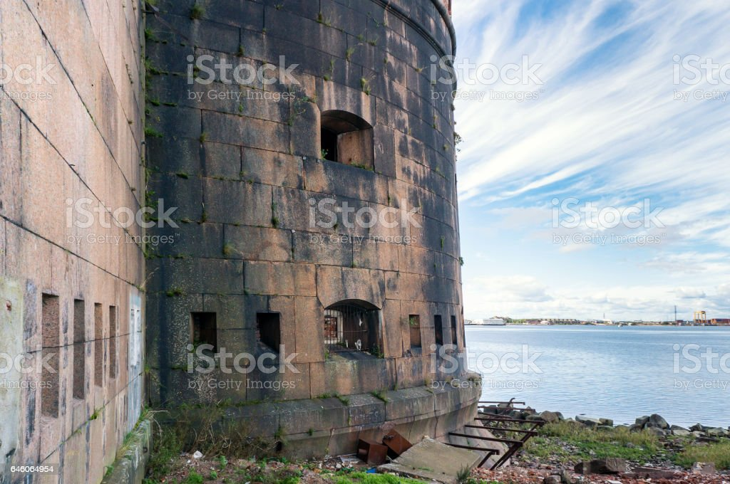 Fortress Emperor Alexander I in Kronstadt, Russia stock photo