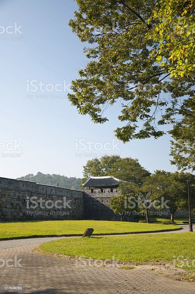 Fortress Gardens stock photo