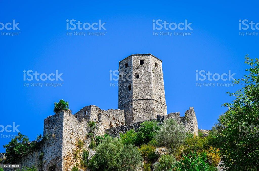 Fortress in Pocitelj - Bosnia and Herzegovina stock photo