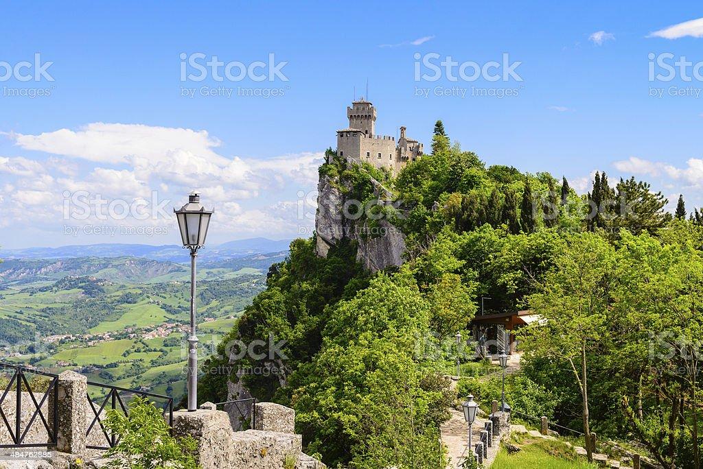 Fortress in San Marino republic, Italy stock photo